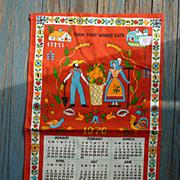 Penn Dutch Farmer 1976 Calendar Towel MWT