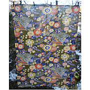 Tropical Flower Power Print Batik Cotton