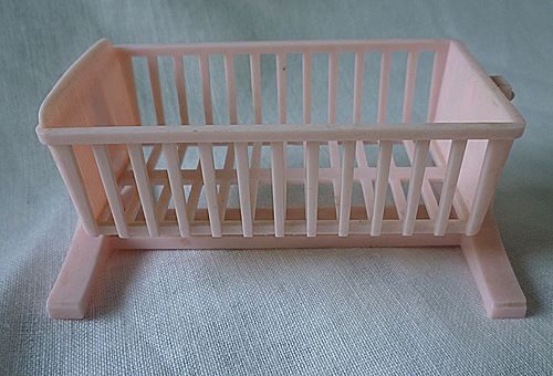 Swinging Pink Cradle Ideal 3/4 Scale Dollhouse Furniture