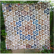 Double Sided Hexagon and Postage Stamp Patchwork Quilt Comfort