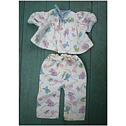 Cute Flannel Animal Print Baby Doll Pajamas