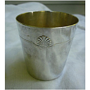 Vintage Christofle France Silverplate Baby Cup