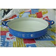 Vintage Dansk Kobenstyle Cobalt Blue Enamelware Small Paella Pan