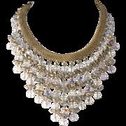 Hattie Carnegie Aurora Borealis Rhinestone Bib Necklace