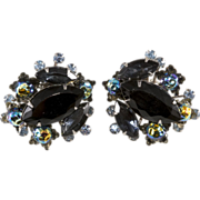 Judy Lee Black Earrings w/ Oil Slick Beads