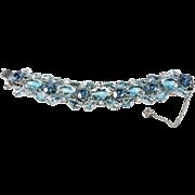 Juliana D&E Bi-Color Blue & Clear Rhinestone Bracelet