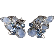Juliana D&E Blue Givre' Rhinestone Earrings