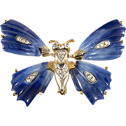 Kenneth Jay Lane Trembler Butterfly Brooch