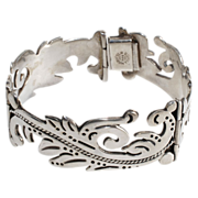 SALE Maricela Mexican Silver Sterling Scroll Bracelet