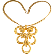 Mimi Di N 1960s LARGE Pendant Necklace
