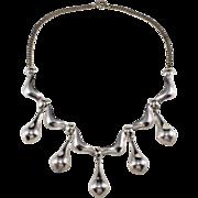 Napier Sterling Silver 1950s Dangle Necklace