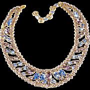 Schreiner Pastel Rhinestone Necklace
