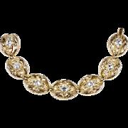 Trifari 1950s Rhinestone Link Bracelet