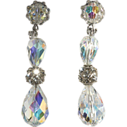 SALE Vendome Crystal & Rhinestone Dangle Earrings