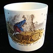 Alphabet ABC Mug ~ Crusoe Making A Boat 1880