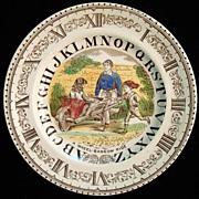 ABC Plate ~ Clock ~ A Wheel-Barrow Ride 1880