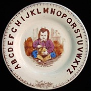 ABC Plate ~ Little Jack Horner ~ Nursery Rhymes 1880