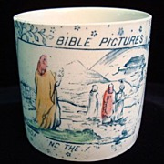 Child's ABC Mug ~ Bible ~ Noah and Ark 1880