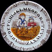 ABC Plate ~ Clock and Alphabet ~ Sea Side 1880