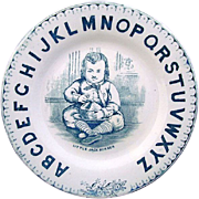 Antique Alphabet Plate ~ Little Jack Horner 1880