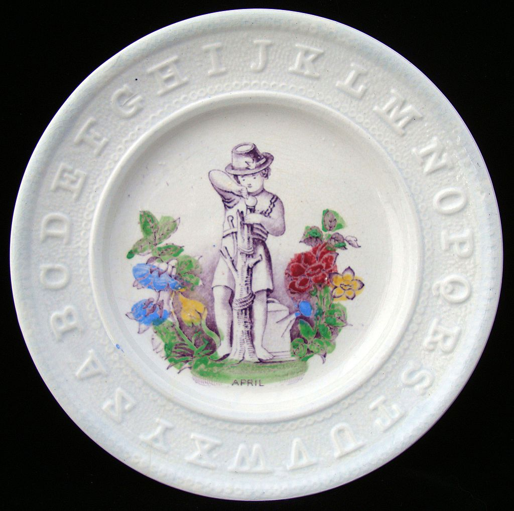Antique ABC Pearlware Plate ~ APRIL 1840