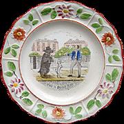 Creamware Reward Plate ~ For a Good Boy 1820