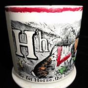 Nursery G & H Mug ~ Horse Goose Hare 1840