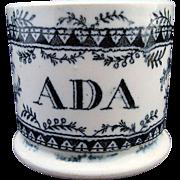 Soft Paste Named Child's Mug ~ ADA 1840