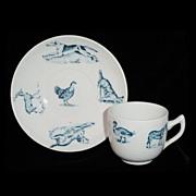Victorian Childs Animals 2pc Tea Set ~ ZOO ANIMALS Pig Turkey Duck Dog