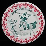 Toy Spongeware Spatter Transfer Garden Games Gymnastics c1830 Staffordshire