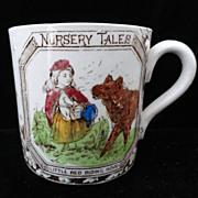 Antique Childs ABC Mug ~ Red Riding Hood 1880