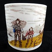 19th Century ABC Mug ~ Fishermen ~ 1850