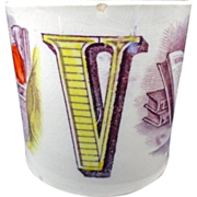 Early ABC MUG ~ Letters U + V ~ 1840