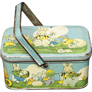 SALE Peter Rabbit as Himself Tin Candy EASTER Lunch Box 1925