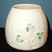 Irish Belleek Honey Pot