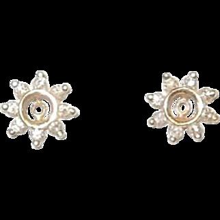 14K and Diamond Earring Jackets