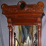 Eastlake Walnut Victorian Wall Mirror