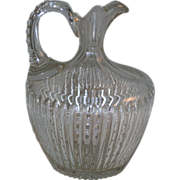 American Brilliant Glass Jug Prism Pattern