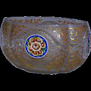 Moser Bohemian Glass Center-Piece Bowl