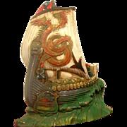 Pair of Viking Ship Book Ends