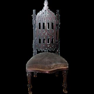 Elegant Gothic Rosewood Chair