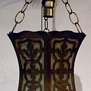 Brass and bent glass light in the Moorish Taste