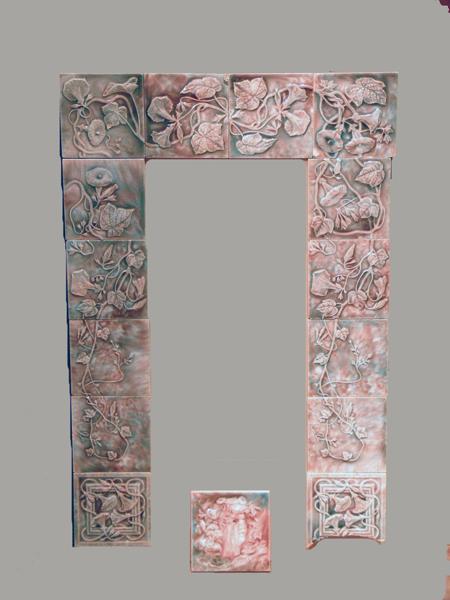 Trent Tile Late Victorian/Art Nouveau Fireplace Tiles
