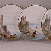 Set Of Four Minton Scenic Plates