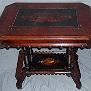 American Aesthetic Movement Inlaid Parlor Table