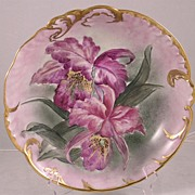 Hand Painted Limoge Bowl With Irises