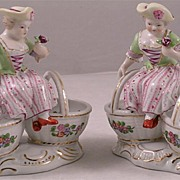 Fine Pair of 19th Century Porcelain Sweet Meat Dishes