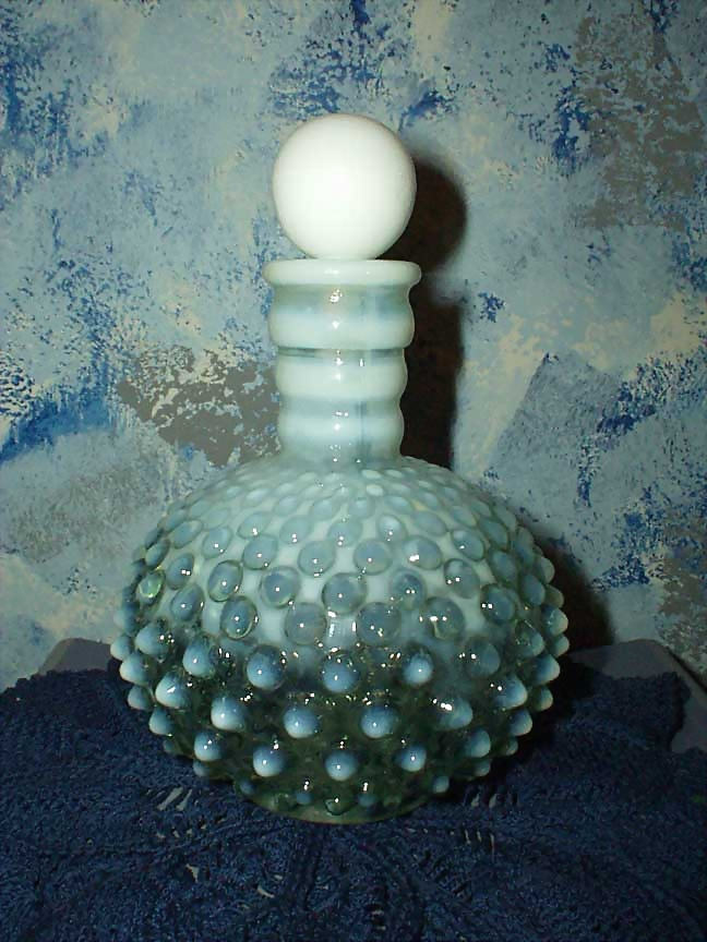 Beautiful White Hobnail Cologne Bottle