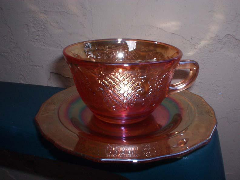 Normandie Bouquet and Lattice Set of Cup and Saucer 1933-1940
