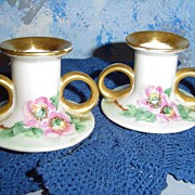 Vintage Flowers Candle Holders
